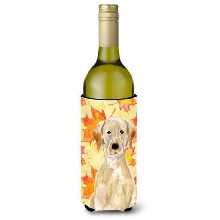 Yellow Labrador Fall Wine Bottle Beverge Insulator Hugger - image 1 de 1