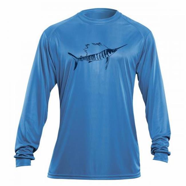 Flying Fisherman Sailfish L S Performance Tee, Carolina Blue, XXL by Flying Fisherman