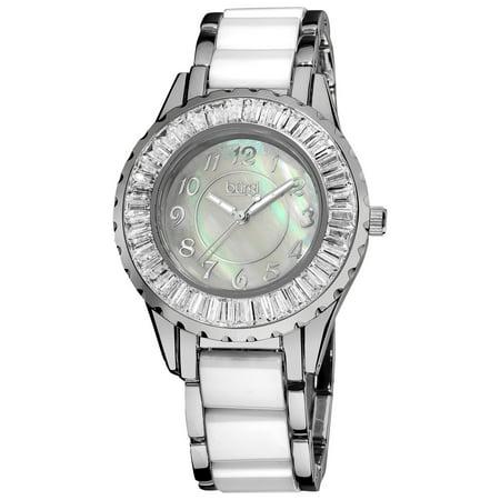 Women's Ceramic White Bracelet Baguette Quartz -