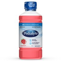Pedialyte Electrolyte Solution, Strawberry, 1 liter, 8 count