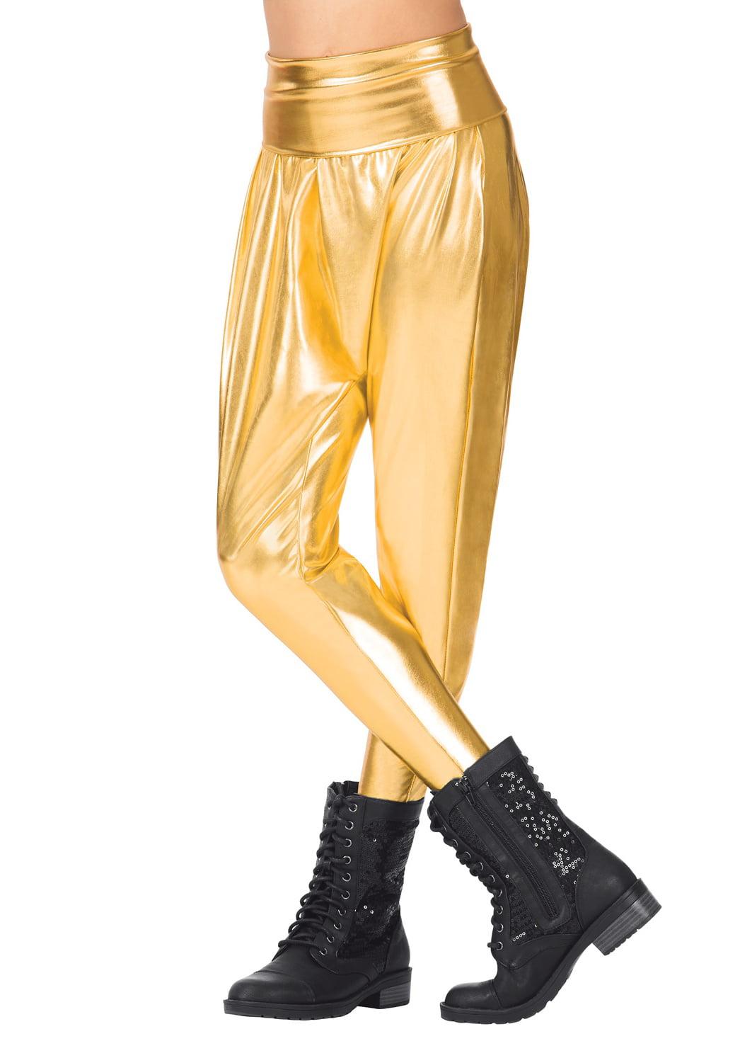 Girls Metallic Harem Pants