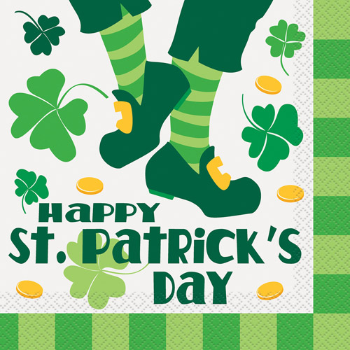 Saint Patrick's Day Jig Luncheon Napkins, 16 Count