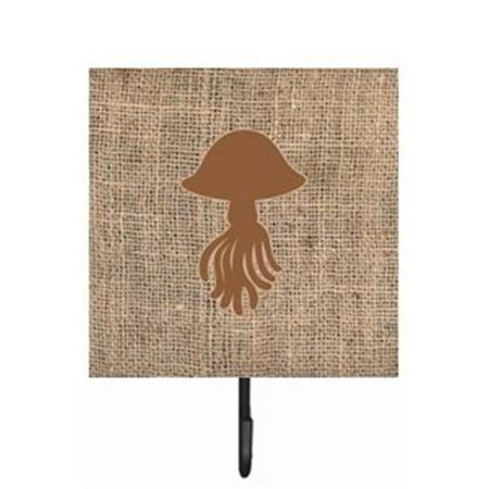 Carolines Treasures BB1089-BL-BN-SH4 Jellyfish Burlap and Brown Leash Or Key Holder - image 1 de 1
