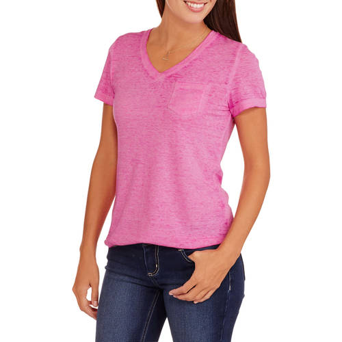 Faded Glory Women's Short Sleeve Burnout T-Shirt