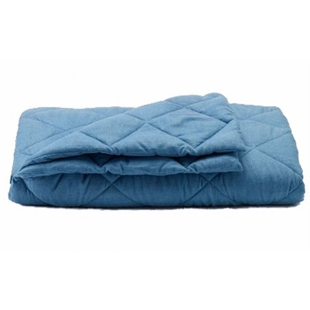 Sonoma Chambray Blue Quilted Puffer Throw Blanket