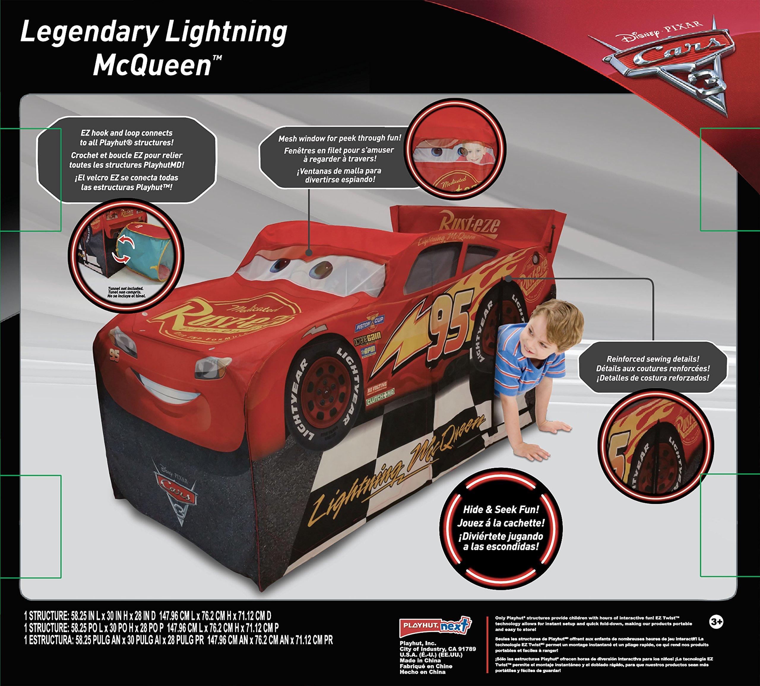 Playhut Disney Cars 3 Lightening Mcqueen Vehicle Play Tent