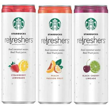 Starbucks Refreshers Sparkling Juice, Variety Pack, 12 Fl Oz, 12 Count