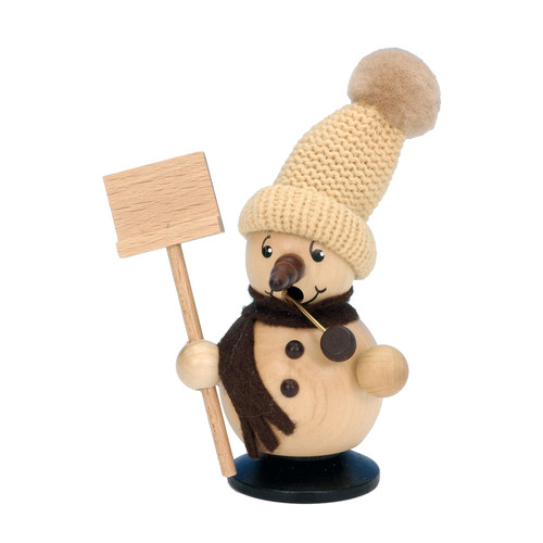 Christian Ulbricht Snowman with Snow Shovel Incense Burner