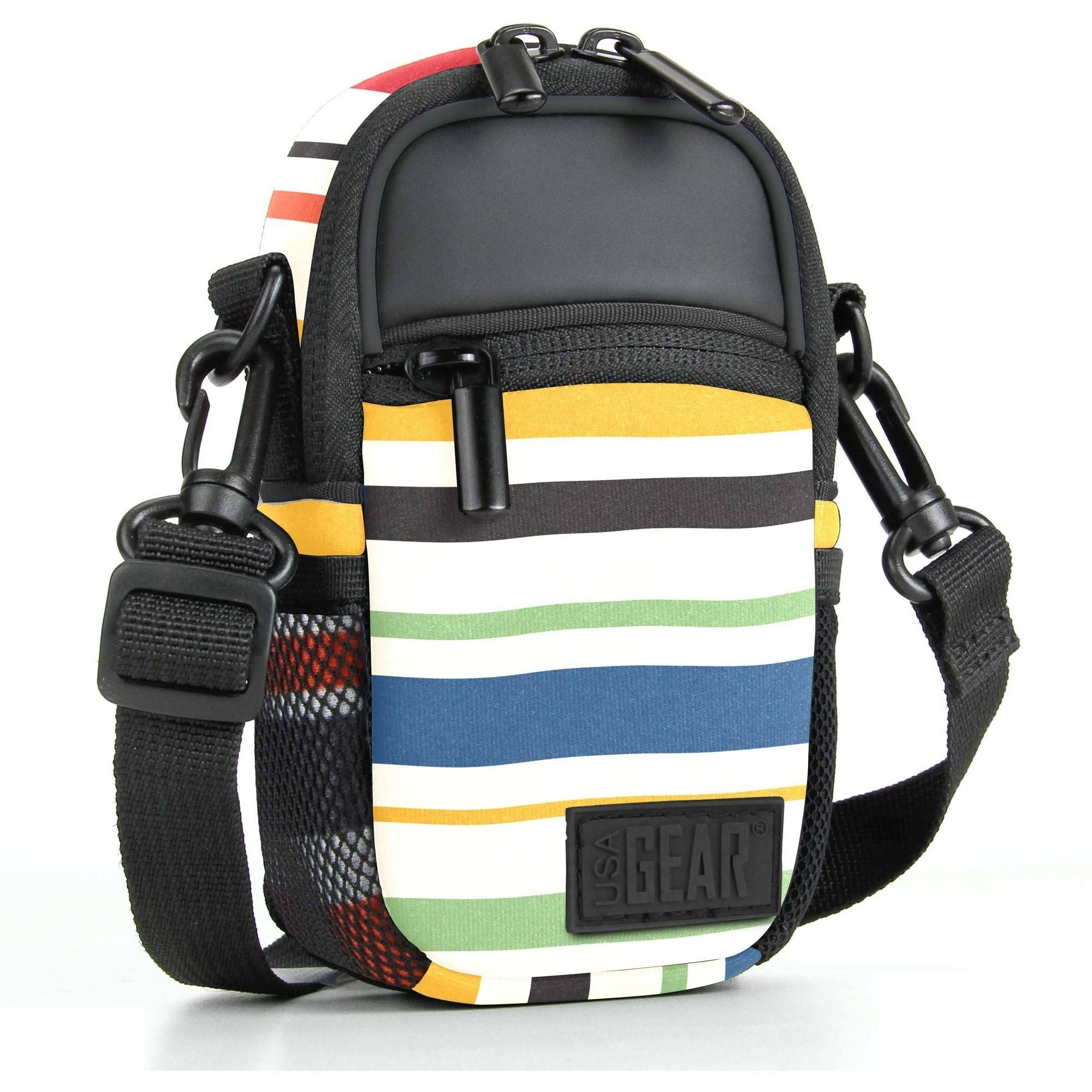 Compact Camera Bag by USA Gear with Rain Cover and Shoulder Sling Strap Works With Olympus Tough TG-4 , TG-860... by USA Gear