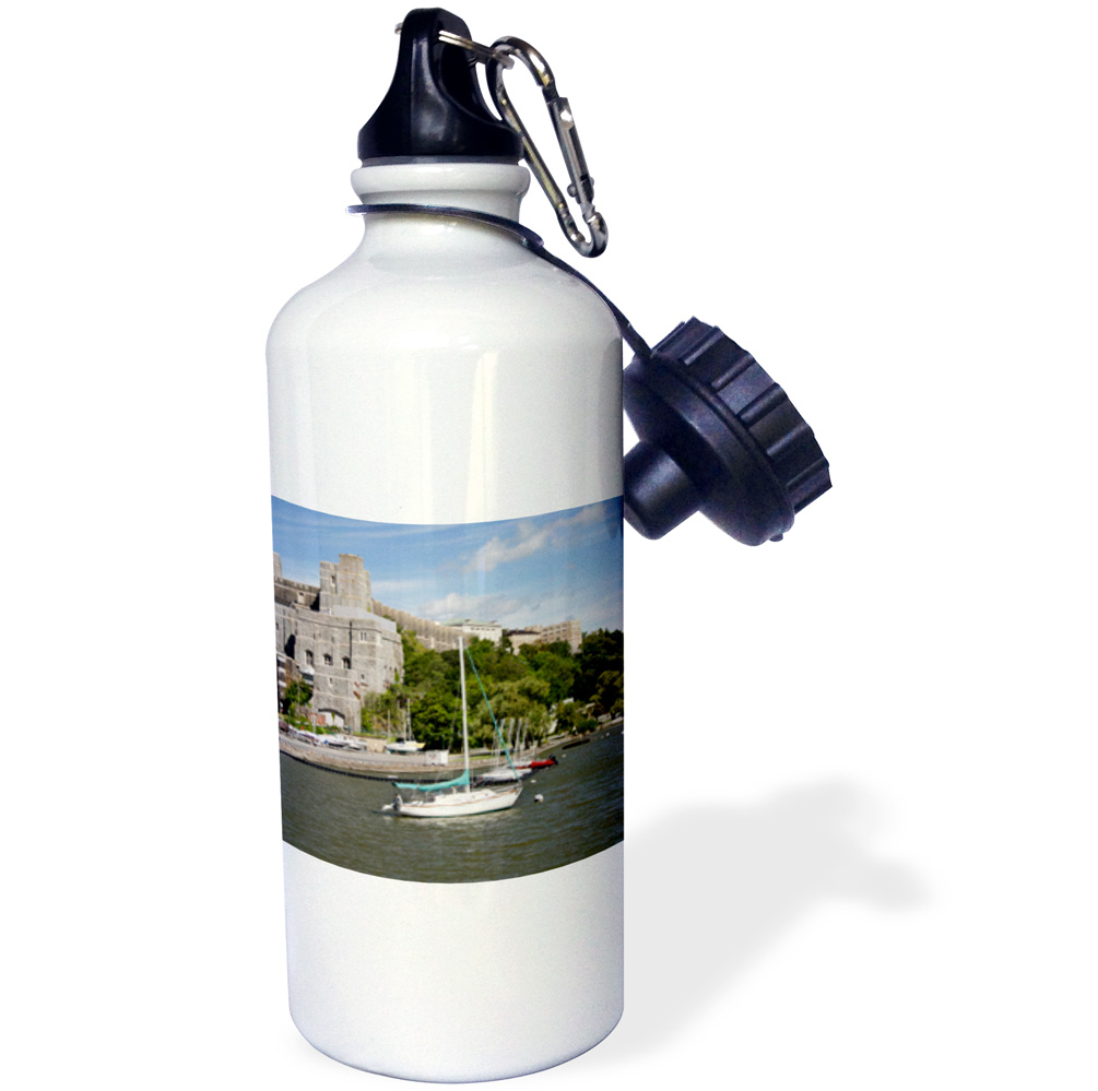 3dRose New York, West Point Academy. Army Military collage, Hudson River., Sports Water Bottle, 21oz