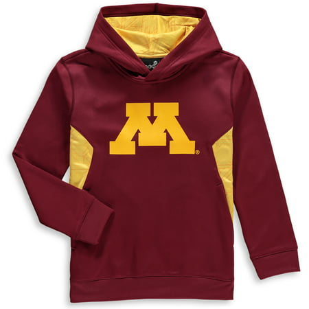 Minnesota Golden Gophers Youth Shattered Poly Pullover Hoodie - Maroon