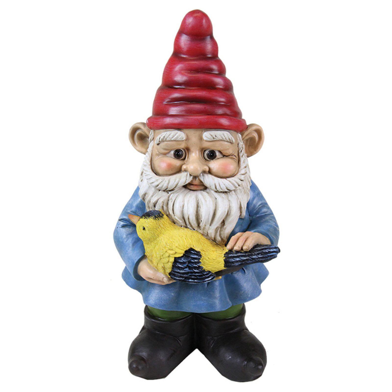 Exhart Gnome Holding a Bird