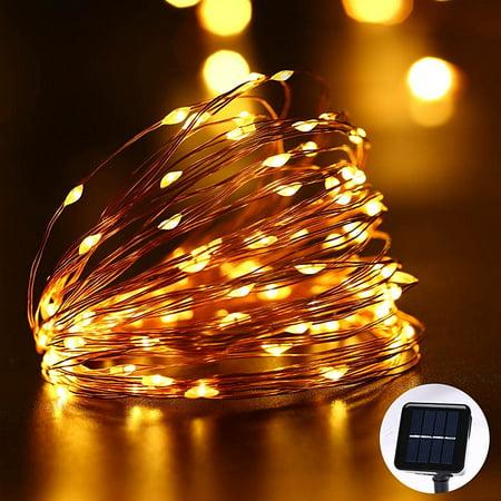 Qedertek solar christmas lights led fairy starry solar lights 33ft qedertek solar christmas lights led fairy starry solar lights 33ft 100 led copper wire rope aloadofball Gallery