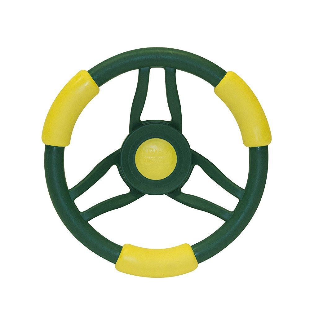 Backyard Discovery 1980com High Performace Steering Wheel, Green/Yellow