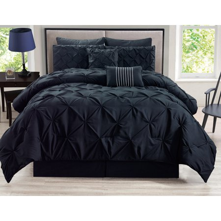 12 Piece Rochelle Pinched Pleat Bed in a Bag w/600TC Cotton Sheet Set ()