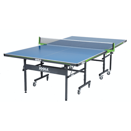 JOOLA Outdoor Competition Grade Weatherproof Table Tennis Table with Ping Pong Net Set, 6mm Surface, Regulation Size 9' x 5',