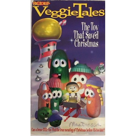 VeggieTales-The Toy That Saved Christmas (VHS)TESTED-RARE-SHIPS N 24 HOURS ()