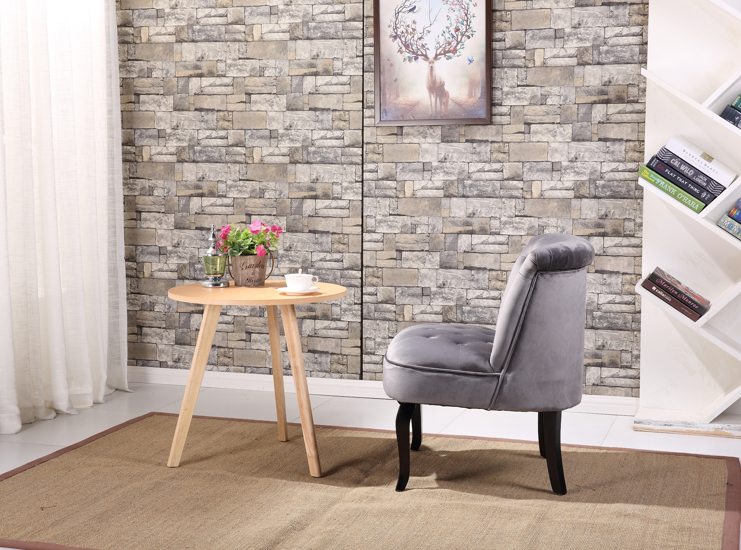 Ocean Bridge Furniture Chevalier Royal Side Chair Grey