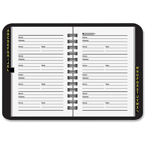 "At-A-Glance 3-3/4"" x 6"" Telephone/Address Book"