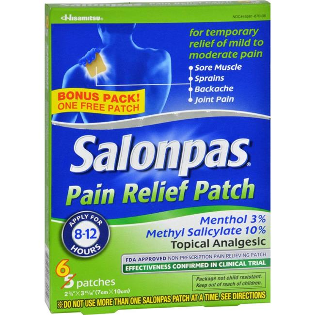 Salonpas HG0198705 Pain Relief Patch - Pack of 5