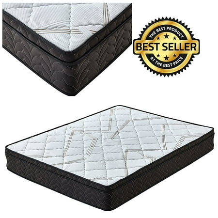 - Twin Mattress Memory Foam and Spring Single Pillow Top Mattress
