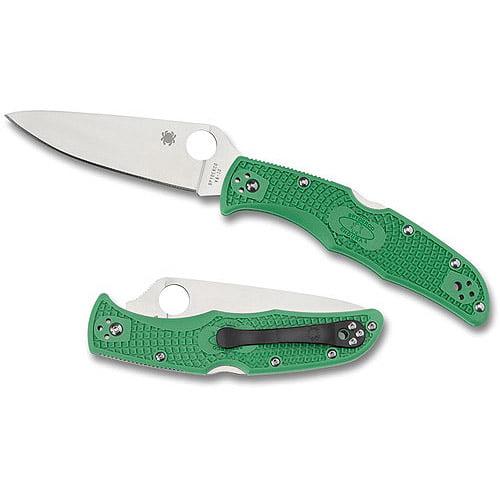 Spyderco Endura 4 Lightweight Brown FRN Flat Ground PlainEdge Folding Knife