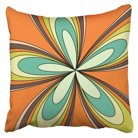 ARTJIA 70s Retro Spring Hippie Flower Power Pillowcase Cushion Cover 18x18 inch](70s Flower Power Fashion)