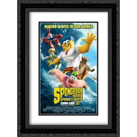 The SpongeBob Movie: Sponge Out of Water 18x24 Double Matted Black Ornate Framed Movie Poster Art Print