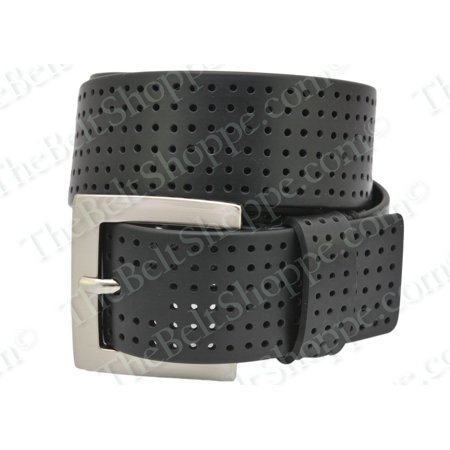 Pga Size 44 Mens Silicone Perforated 1 1 2 Inch Golf Belt  Black