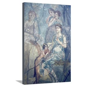 Italy, Naples, Naples Museum, Pompeii, House of L. Cornelius (VII 12, 26), Artemide and Calisto Stretched Canvas Print Wall Art By Samuel Magal