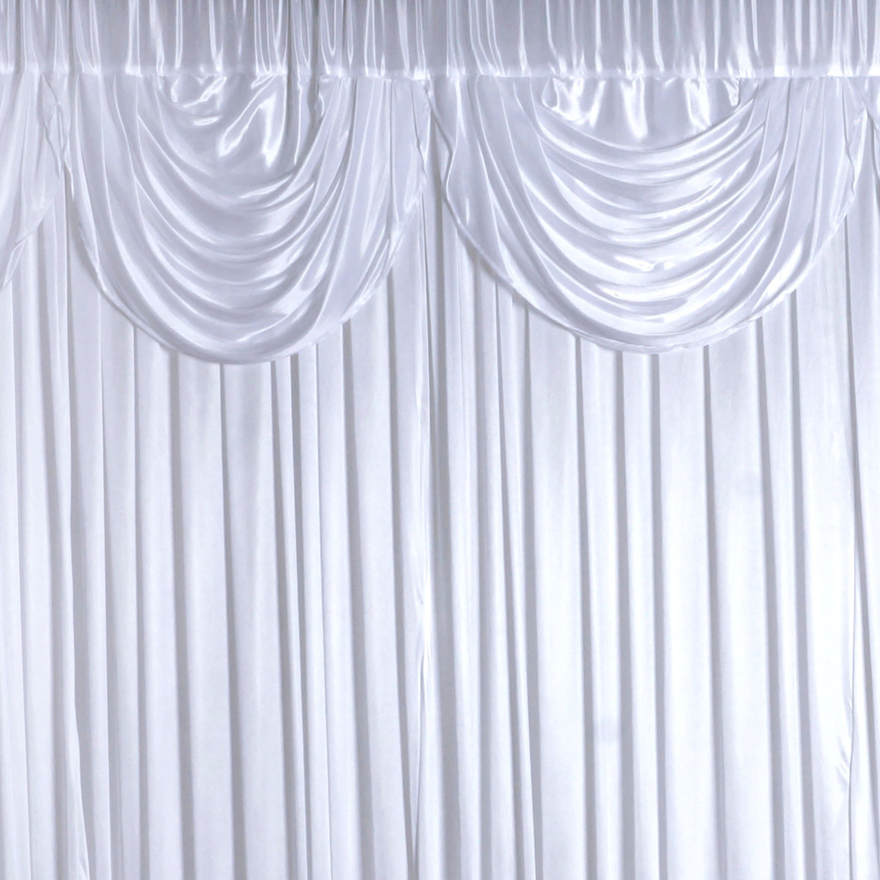 Balsacircle White 20 Feet X 10 Decorative D Backdrop Curtain Wedding Party Photobooth Ceremony Event Photo Decorations
