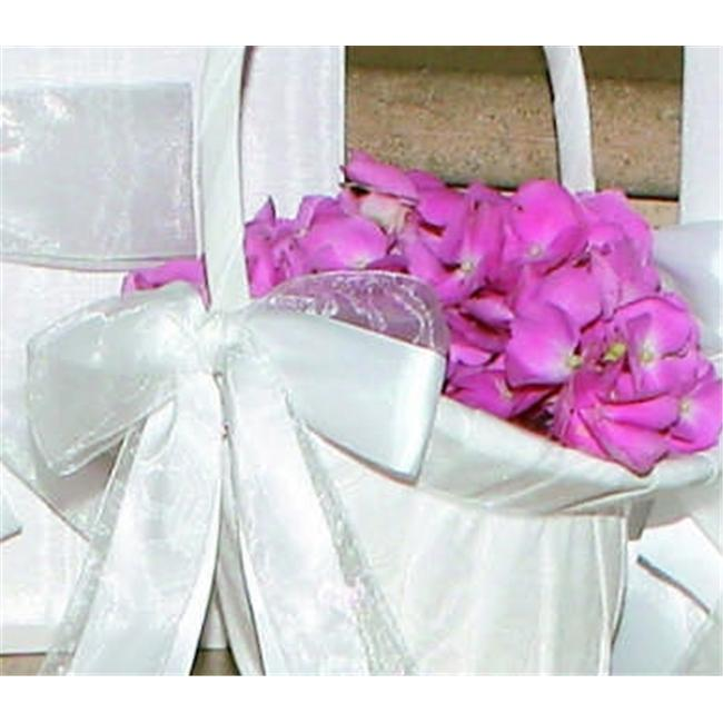 Beverly Clark 4UT Grace Flower Girl Basket - White