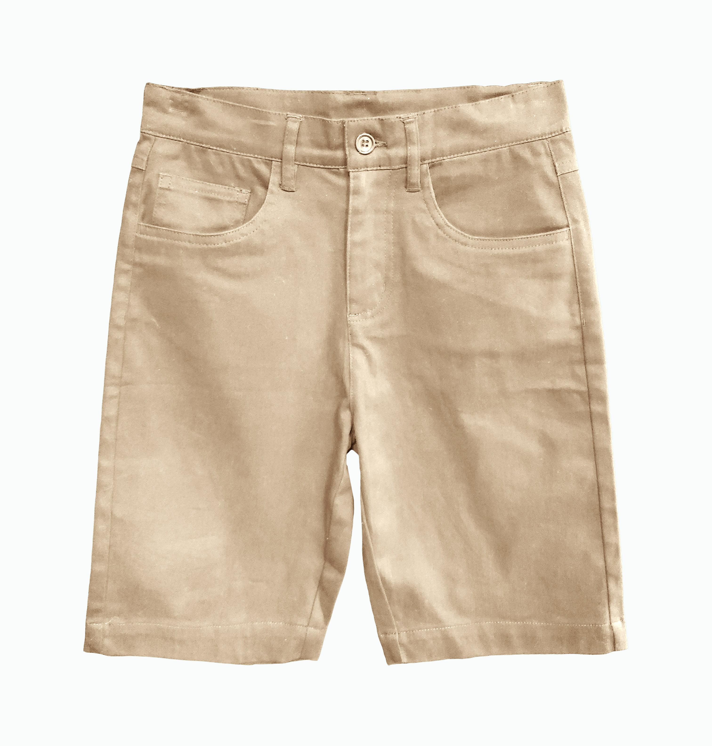 Boys Uniform 5 Pocket Stretch Twill Short