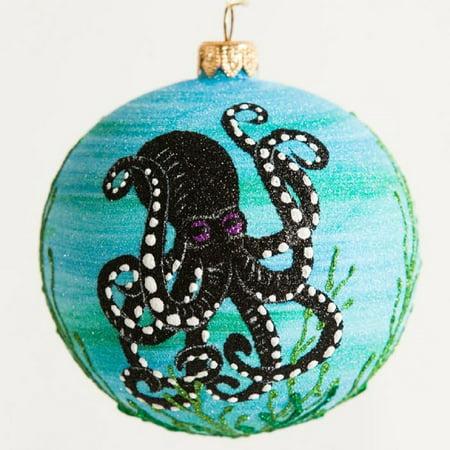 Christmas In Octopus Garden >> Octopus Garden Sea Life Polish Glass Ball Christmas Tree Ornament Made In Poland
