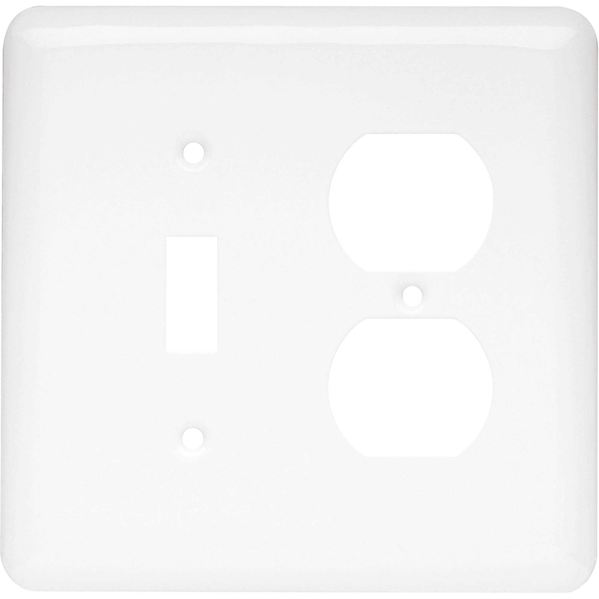 Brainerd Rounded Corner Single Switch/Duplex Wall Plate, Available in Multiple Colors