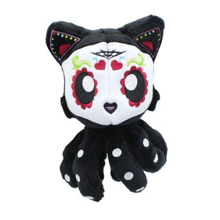 Dia De Los Muertos Sugar Skull Tentacle Kitty 4 Inch Little Ones Plush - Sugar Skull Stuff