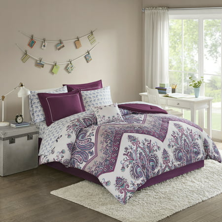 Home Essence Apartment Allura Bed in a Bag Comforter Bedding Set (Asian Theme Comforter)