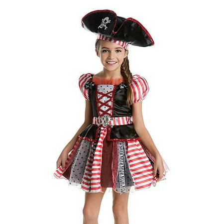 Highs Seas Patchwork Pirate Girl's Kids Halloween Costume](Kid Girl Pirate Costume)