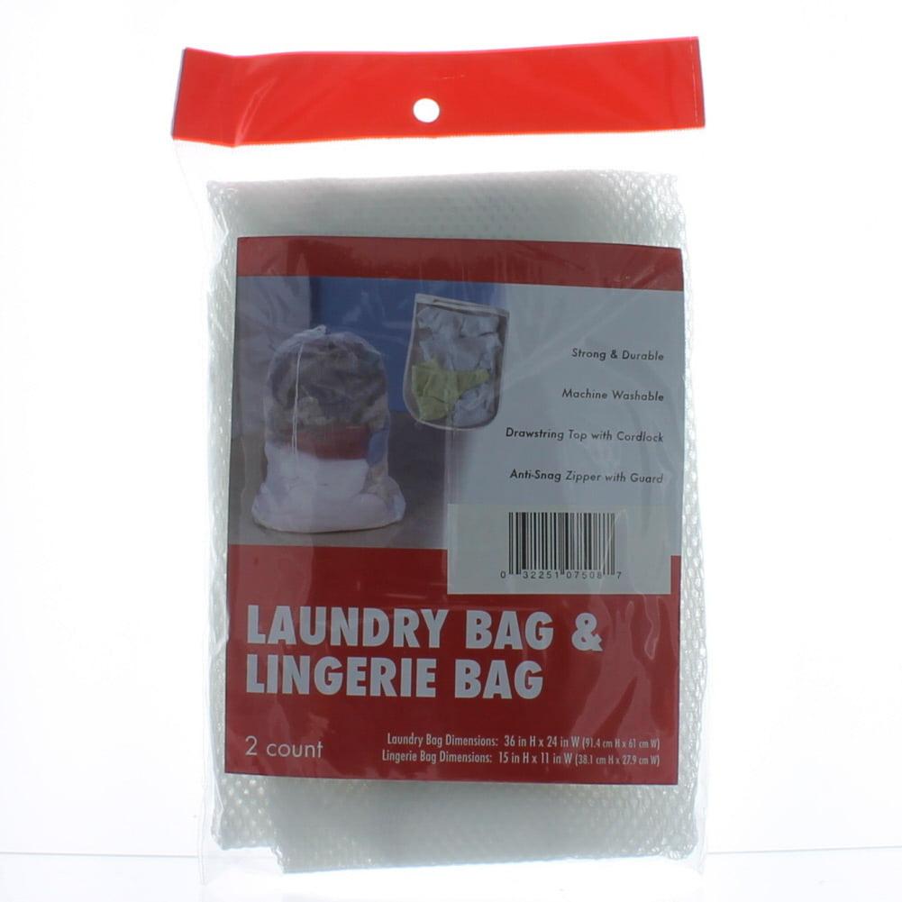 2 Sets Laundry Bag & Lingerie Bag Mesh Wash Delicate Clothes Hosiery Bra Socks