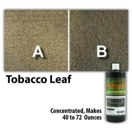 Tobacco Leaf Design (Concrete Resurrection Eco and Environmentally Friendly Concrete Stain Tobacco Leaf )