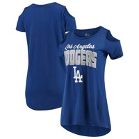 Los Angeles Dodgers G-III 4Her by Carl Banks Women's Clear the Bases Cold Shoulder T-Shirt - Royal