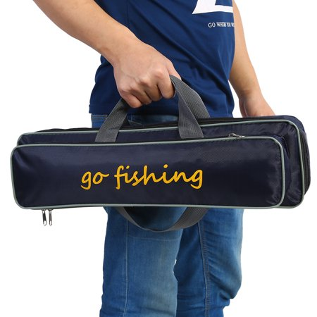 Lv. life Outdoor Fishing Rod Pole Reel Lures Box Tackle Storage Bag Handbag Adjustable Strap , Fishing Pack, Fishing