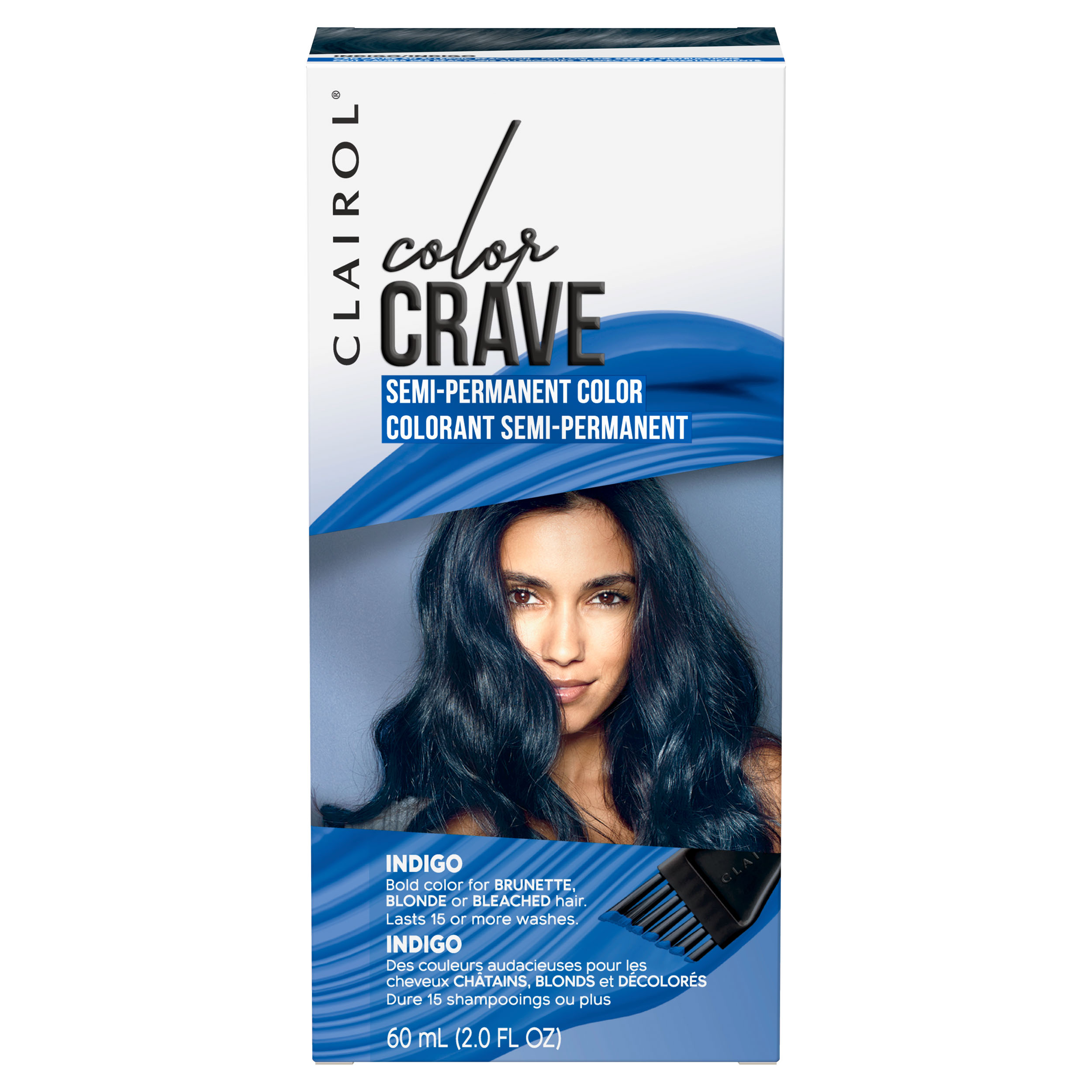 Clairol Color Crave Semi Permanent Hair Color Indigo 2 Oz