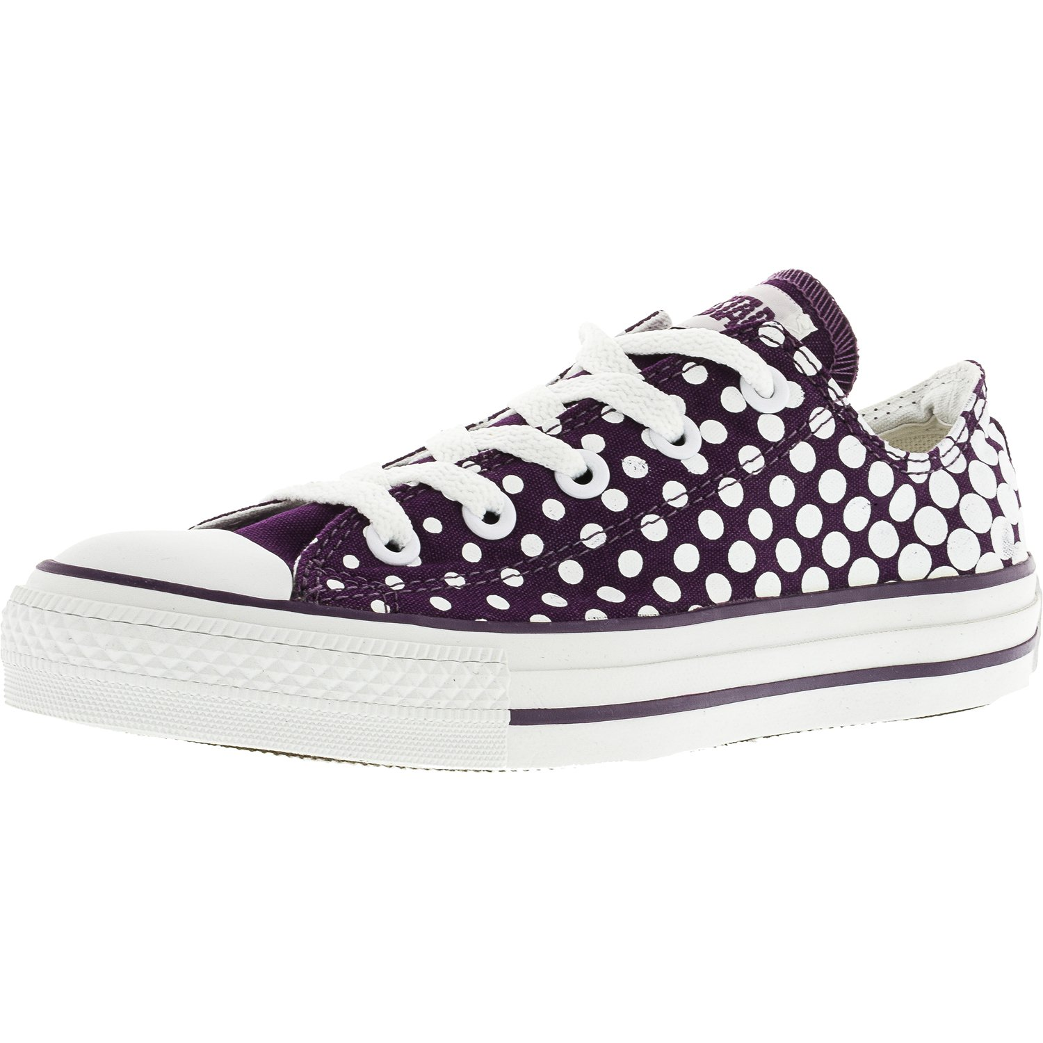 Converse Chuck Taylor All Star Dots Shadow Purple Ankle-High Canvas Fashion Sneaker - 7M / 5M