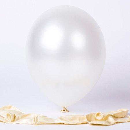 "100 pcs 12"" Latex Balloons Pearl White Colour birthday wedding celebrations"