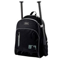Franklin Sports MLB Batpack Bag - Youth Baseball, Softball and Teeball Bag - Black/Gray