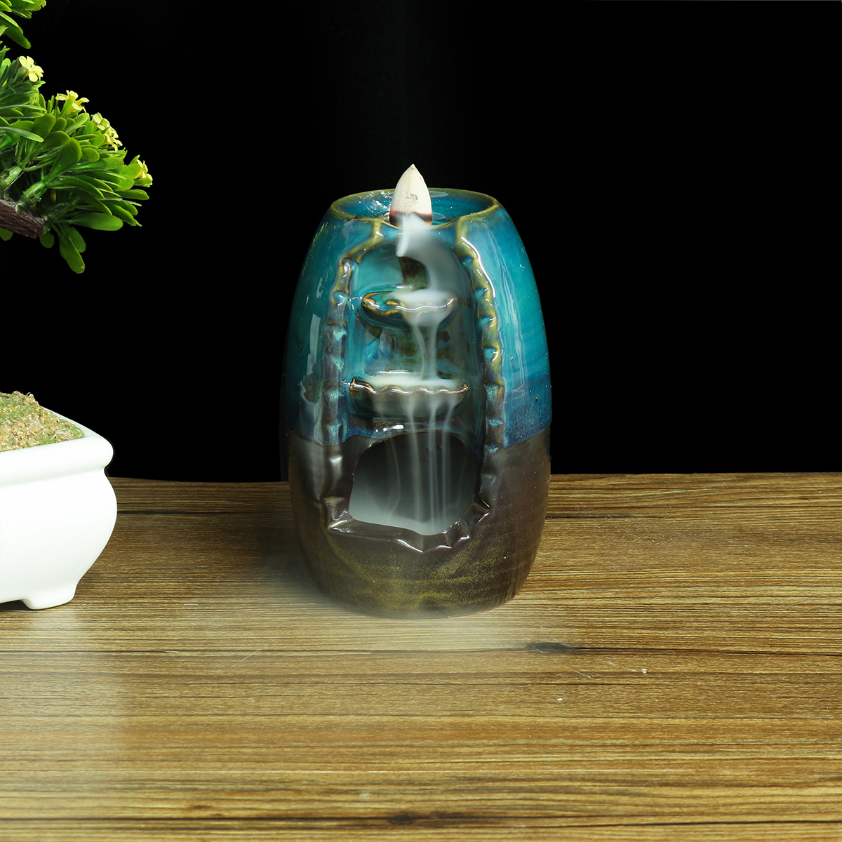Ceramic Waterfall Smoke Backflow Incense Burner With Incense Cones Living Room Ornament Home Decor Walmart Canada