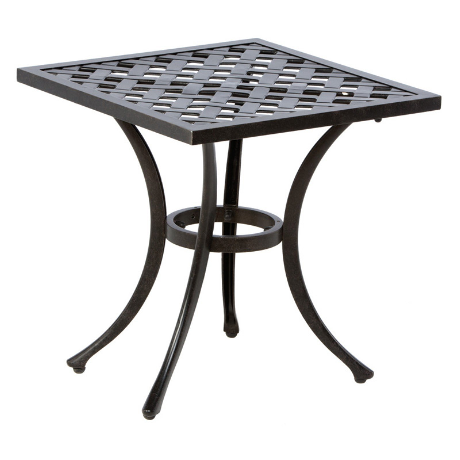 Alfresco Home Weave Square Side Table