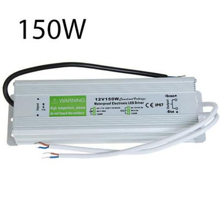 LED4Everything (TM) DC Power Supply Adapter Waterproof Transformer Converter 12V 150W LED -