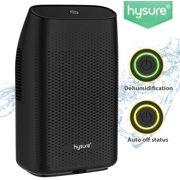 Hysure® 2000ML Dehumidifier,Portable Electrical Dehumidifier for Home ,Bedroom,Bathroom,Kitchen,Basement and Small Office-Black